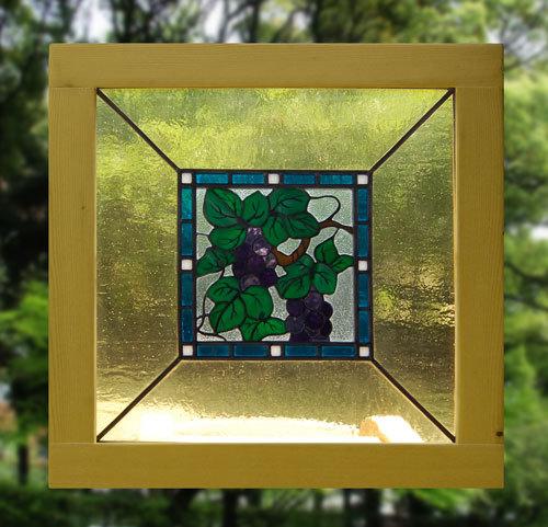 葡萄(ステングラスのアートパネル) 03050207