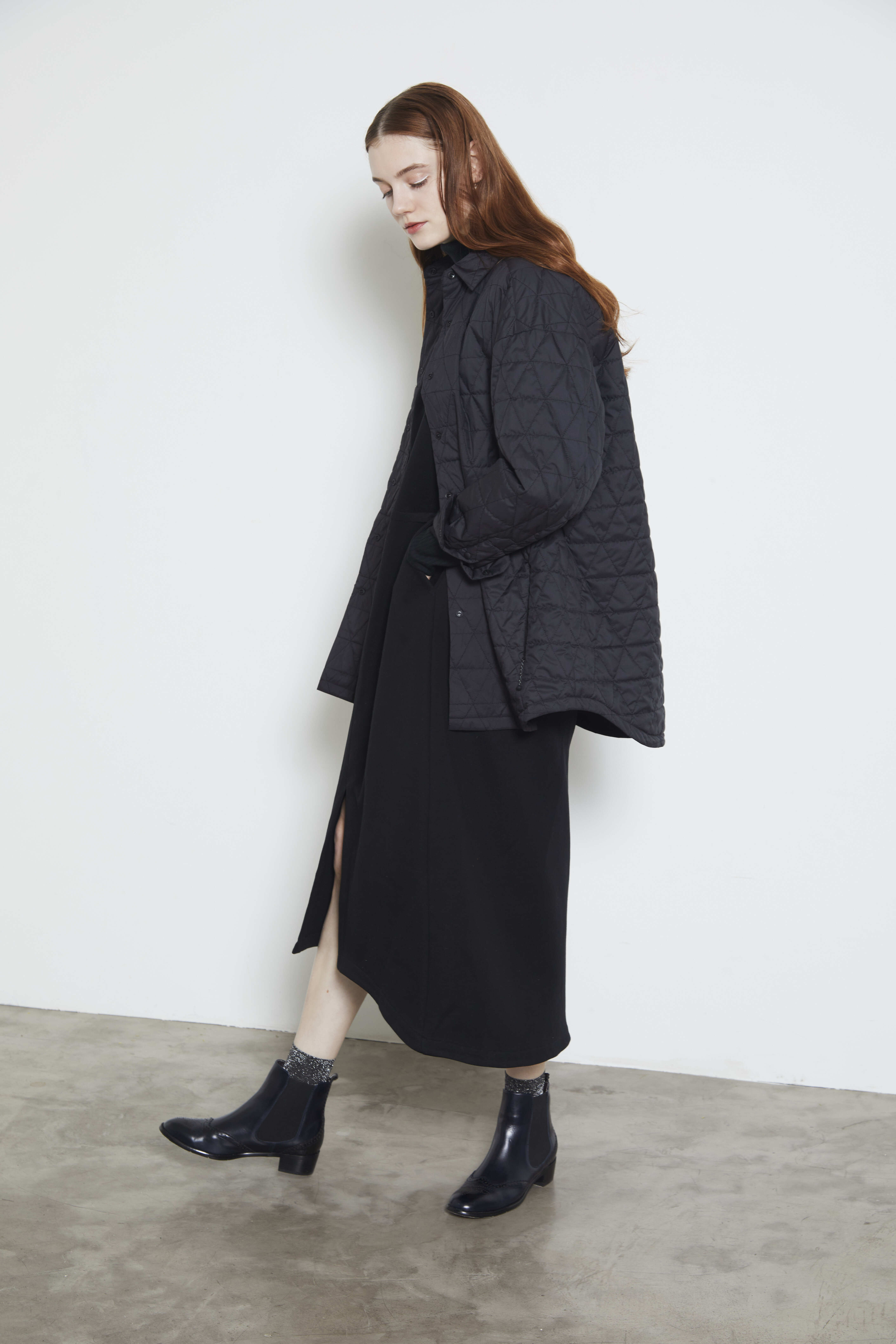 【2021AW先行受注アイテム】DOUBLE KNIT HIGH NECK DRESS