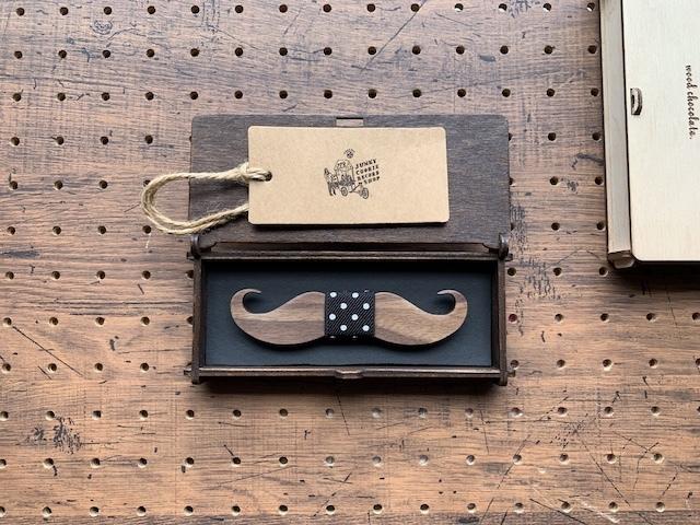 木製 蝶ネクタイ #Dot Mustache - 画像2
