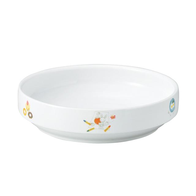 【1715-1290】強化磁器 17cm すくいやすい食器 でい
