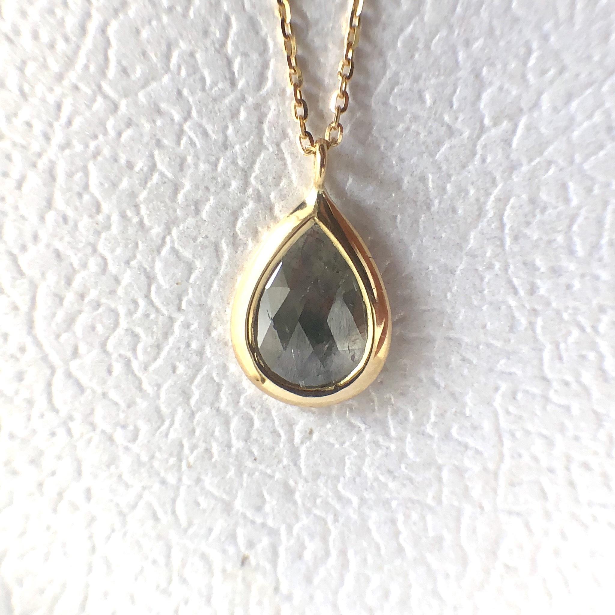 ナチュラルダイヤモンド ペンダント  0.580ct チェカ K18 イエローゴールド 鑑別書付