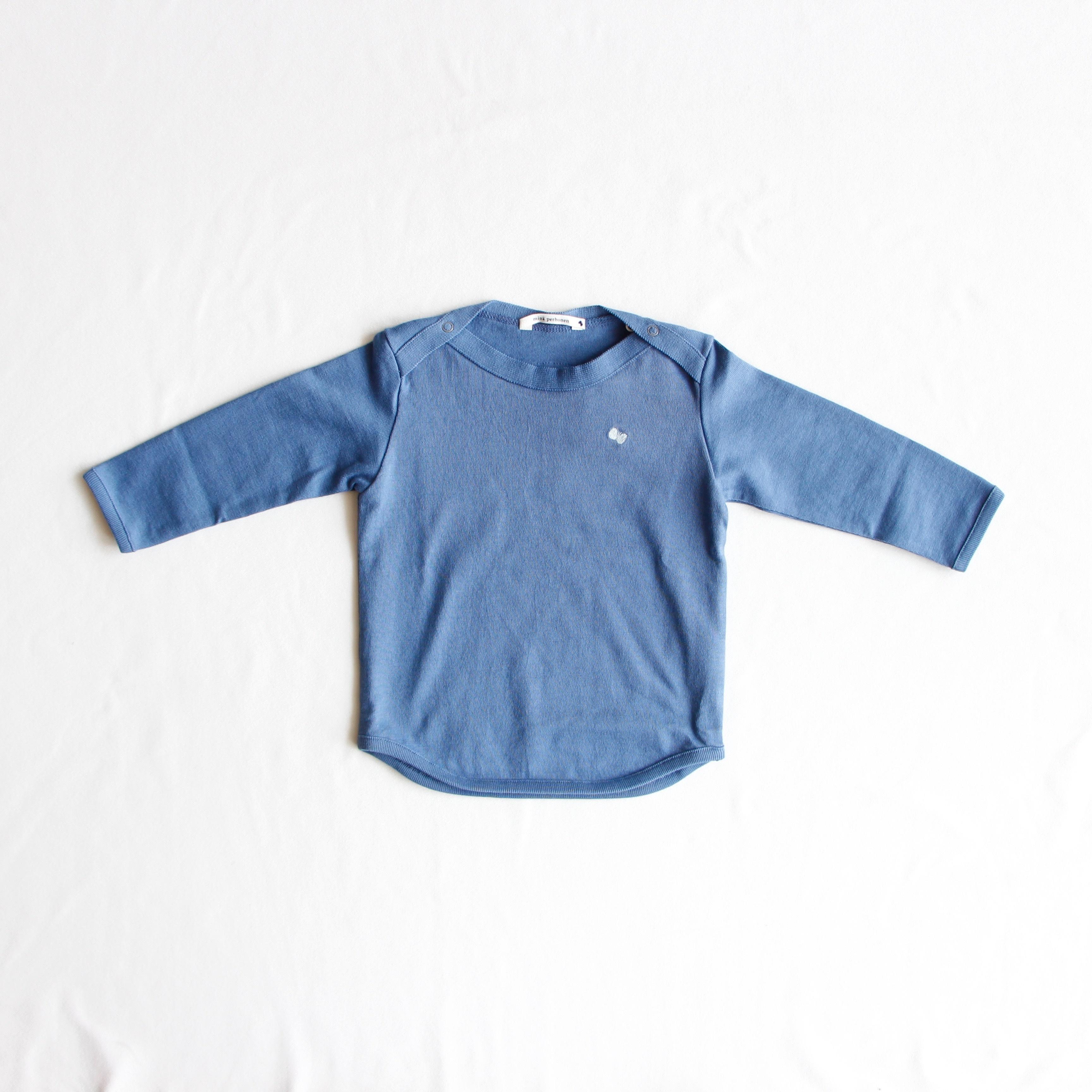 《mina perhonen 2018AW》zutto 長袖カットソー / blue / 110cm