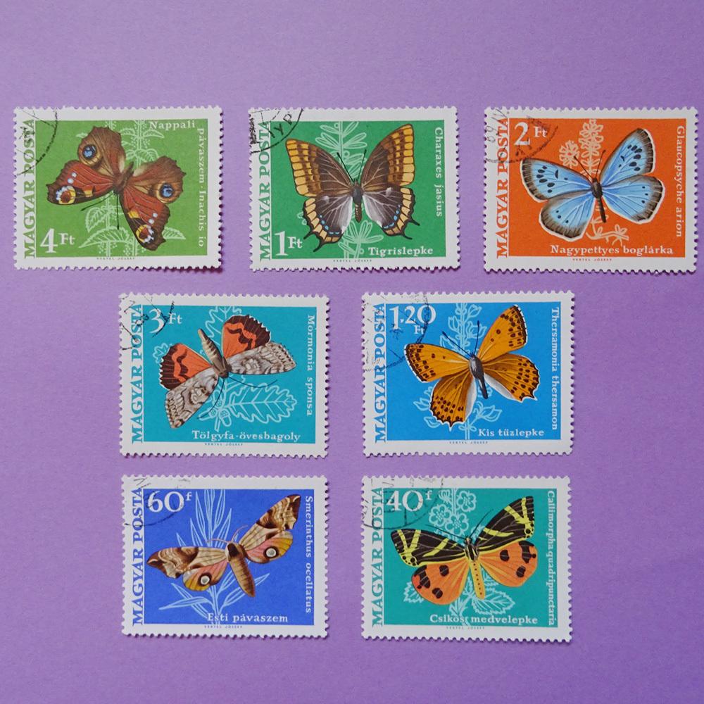 チェコ 蝶のヴィンテージ切手