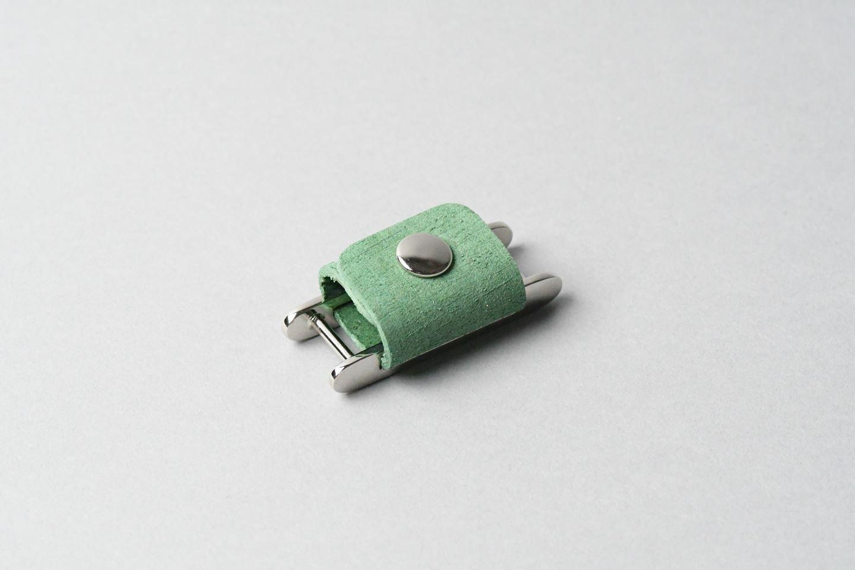 イヤホンコードホルダー □アボカドグリーン□ イタリアンレザー earphone cord holder - 画像1