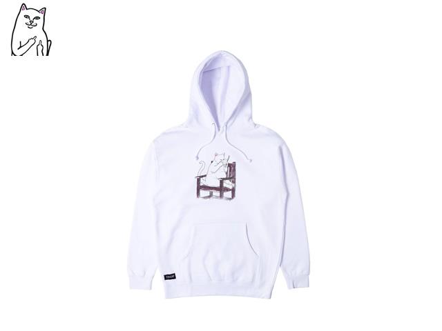 RIPNDIP|Take Out Hoodie (White)