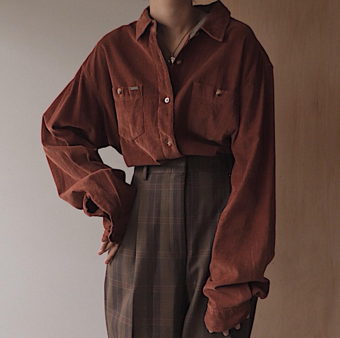 terracotta corduroy shirt