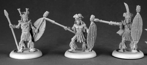 人食い部族の戦士たち/槍(3体) - 画像2