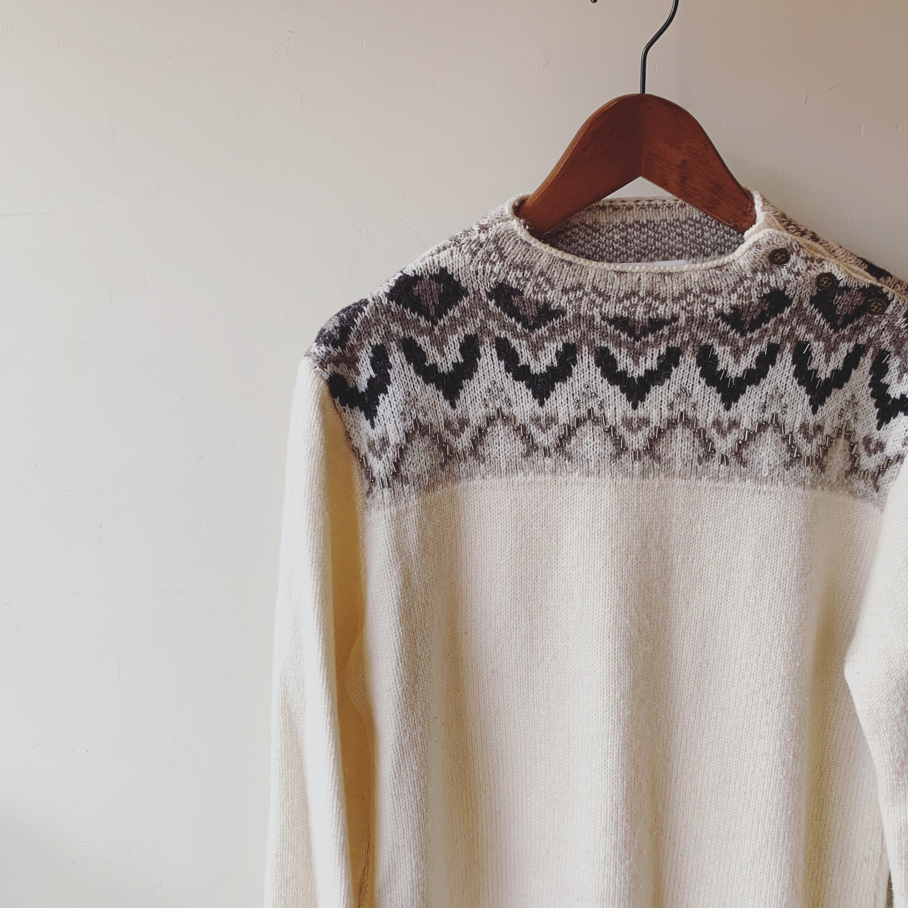 vintage nordic knit sweater