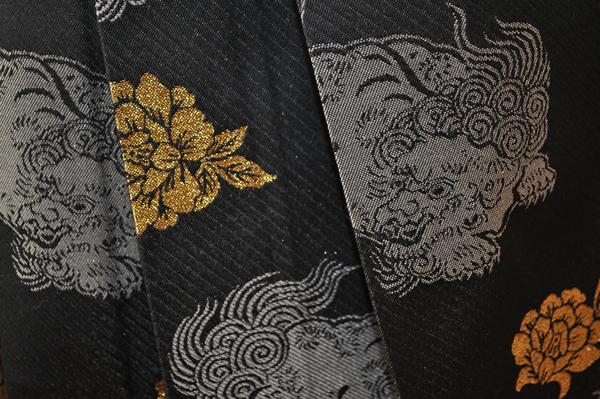 レンタル男性用shishi01【紋付袴】白地着物に牡丹刺繍の羽織と獅子の袴フルセット[往復送料無料] - 画像4