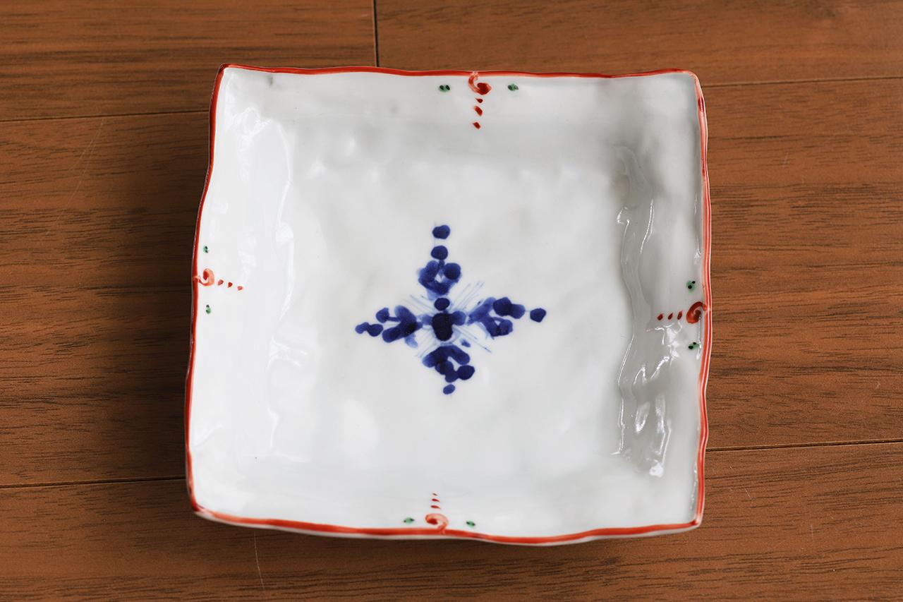 松尾貞一郎 4寸角取り皿 約12cm角 200519-K13 貞土窯(有田焼)