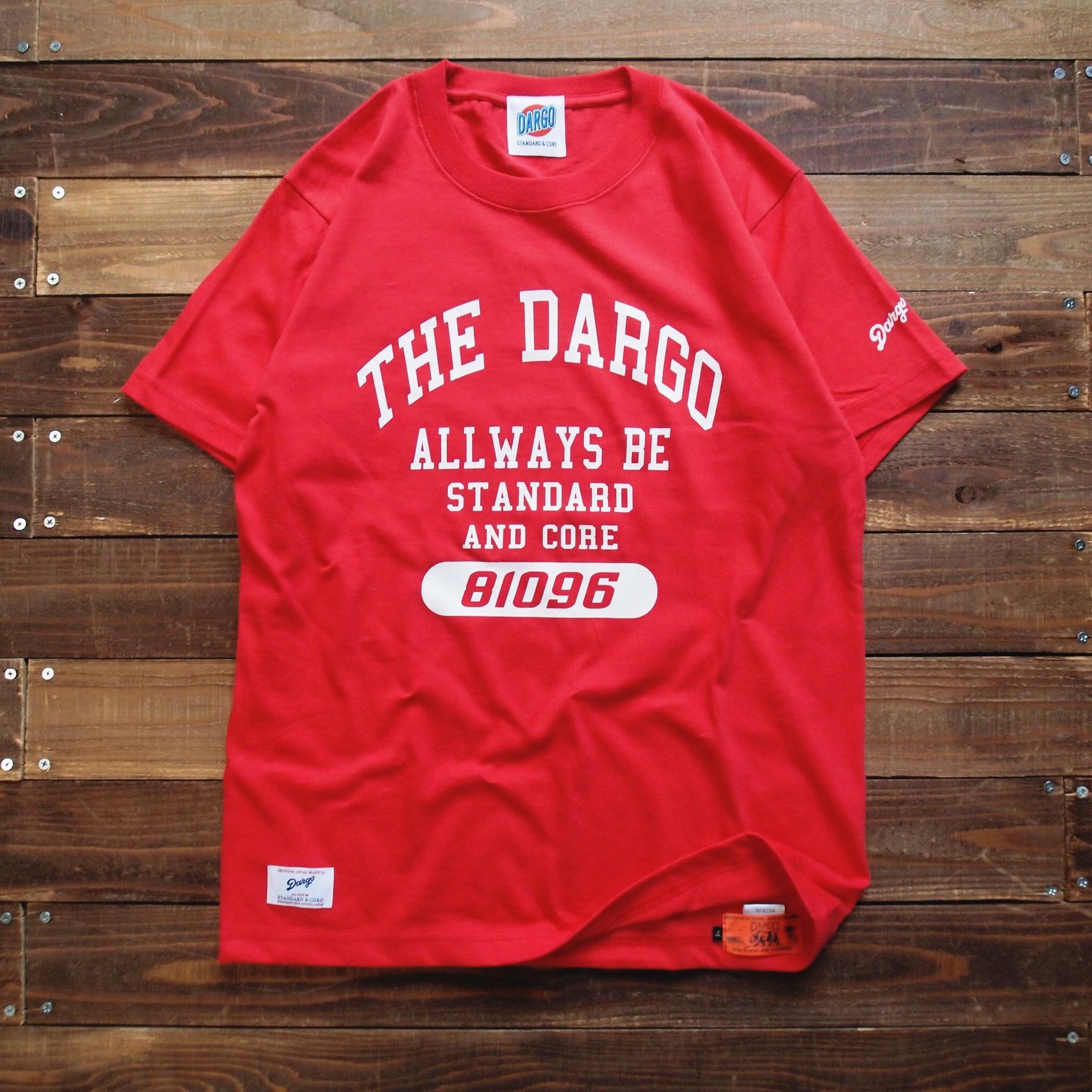 """【DARGO】""""College Logo"""" T-shirt (RED)"""