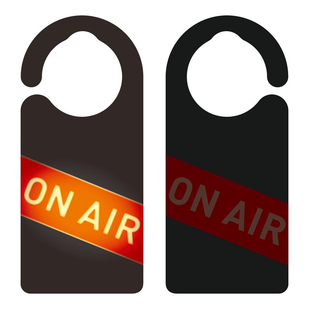 【新形状】ON AIR(生配信中)[1073] 【全国送料無料】 ドアノブ ドアプレート メッセージプレート