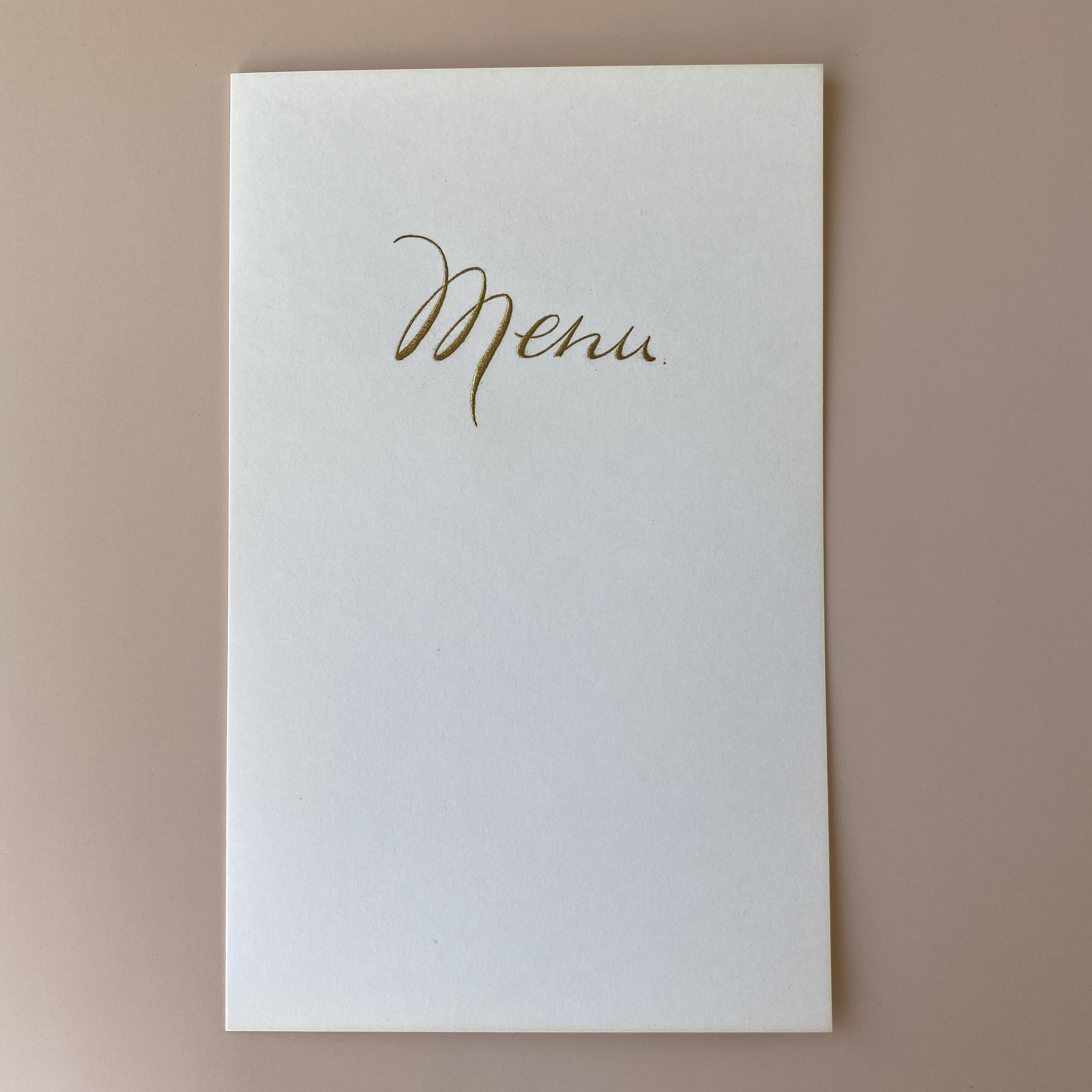 France  menuカード・金文字  3枚セット / vp0170
