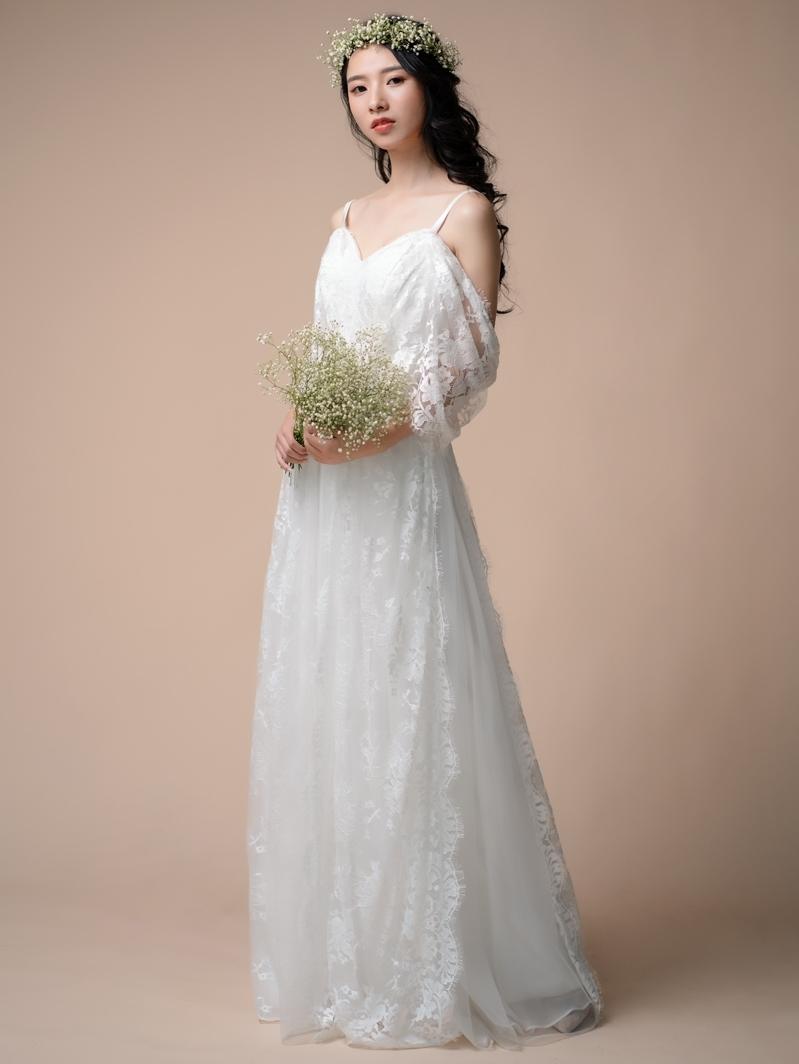 【DearWhite】ウェディングドレス Aライン プリンセス エンパイア デコルテ 結婚式 披露宴 二次会 パーティーウェディングドレス・カラードレス・サイズオーダー格安オーダーメイド DW00023