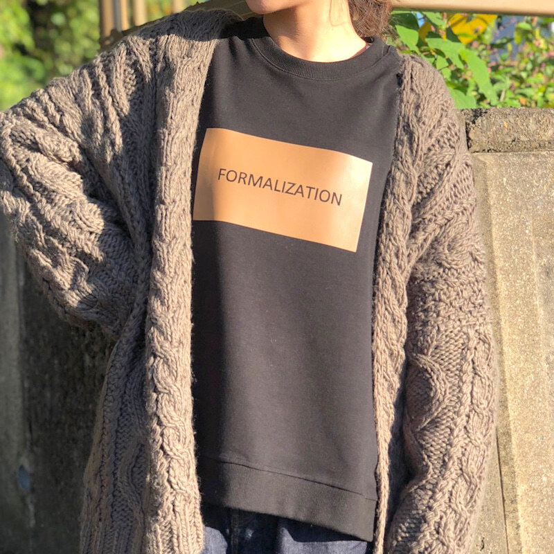 【 Praia 】- LER-20115 - FORMALIZATION SWEAT