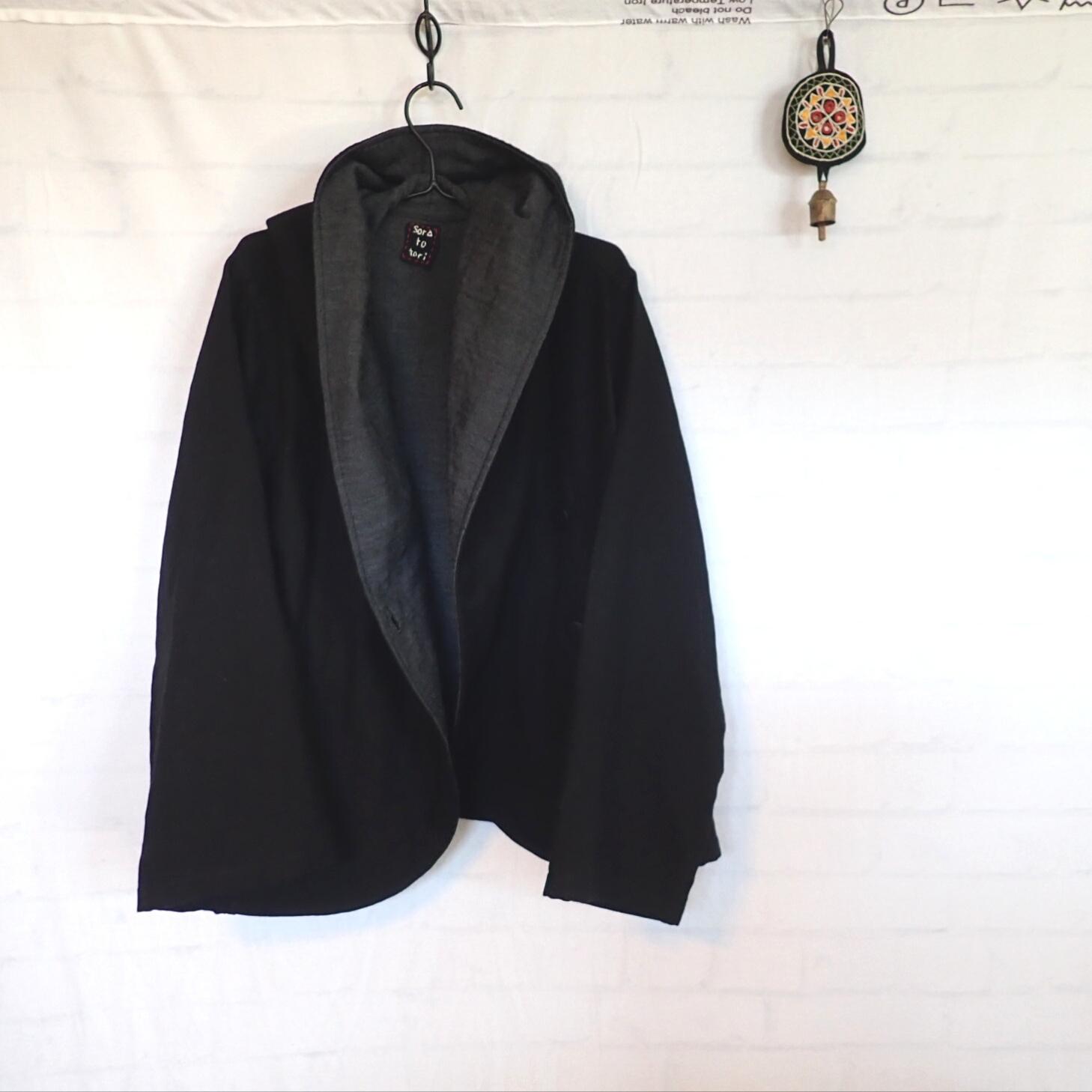チェンマイ ダブルガーゼのたっぷりやわらかジャケット ブラック