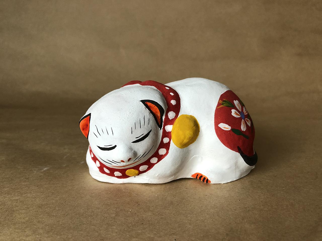 花巻人形工房|花巻人形「眠り猫」