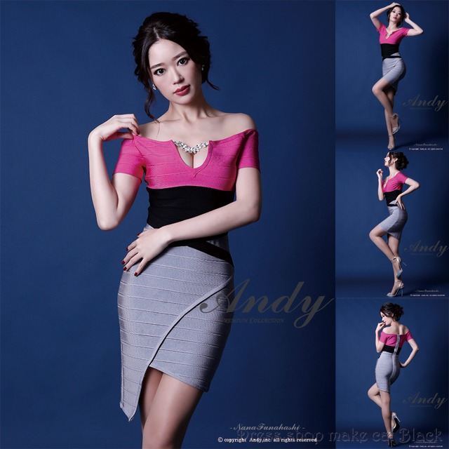 人気再入荷 (Sサイズ)  ミニドレス ¥21,384- (税込) キャバドレス パーティー ドレス Andy GMS-V316