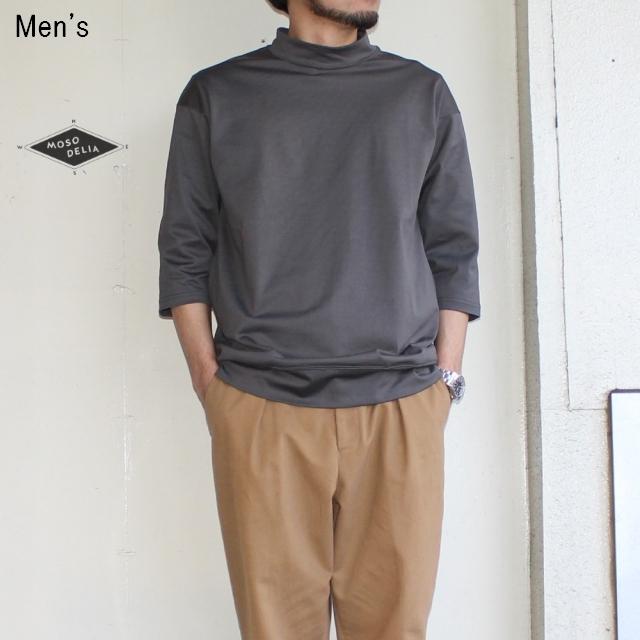 MOSODELIA 度詰めモックネック7/S (OLIVE GRAY)