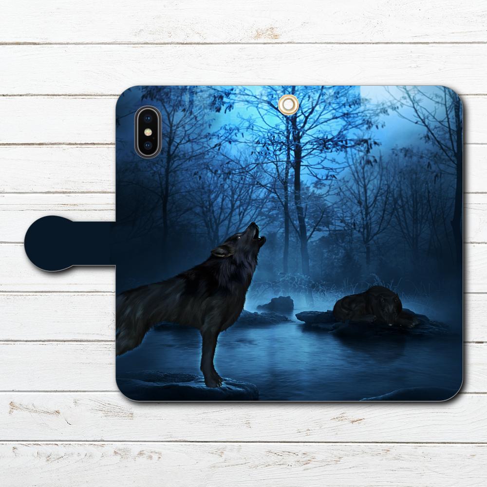 79ef0bfc55 #000-028 iPhoneケース スマホケース 手帳型 全機種対応 狼 セール オオカミ おしゃれ