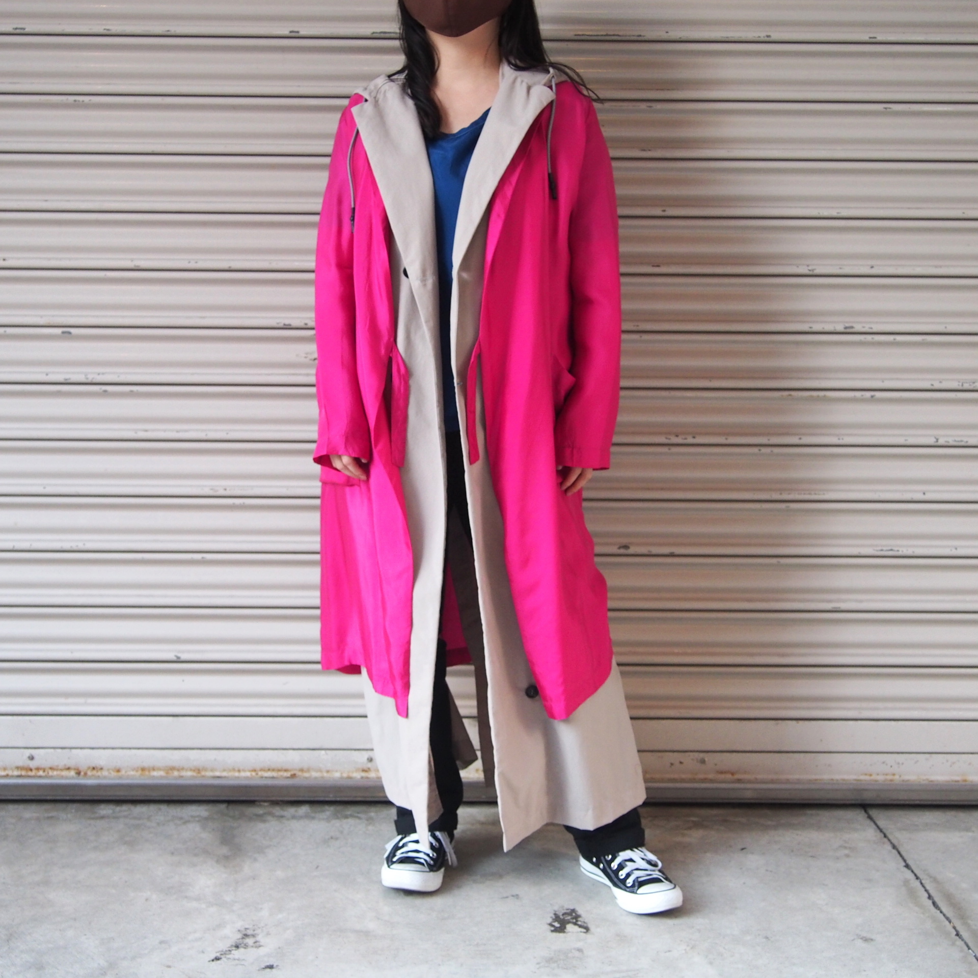 【hippiness】cupro coat(Pink)/【ヒッピネス】キュプラ コート(ピンク)
