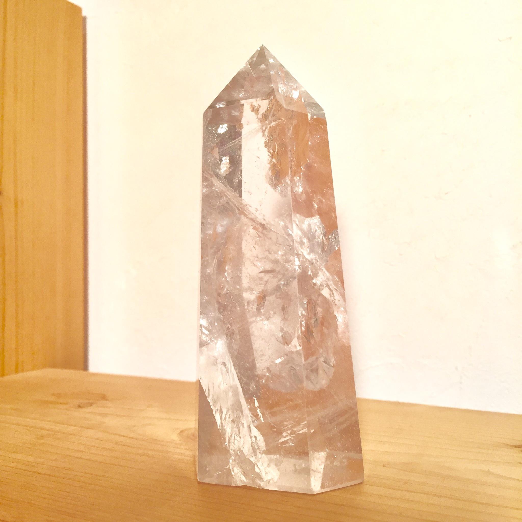 【海響(MIKI)セレクト】ブラジル産 水晶 407g 浄化・コレクション・インテリアに♪