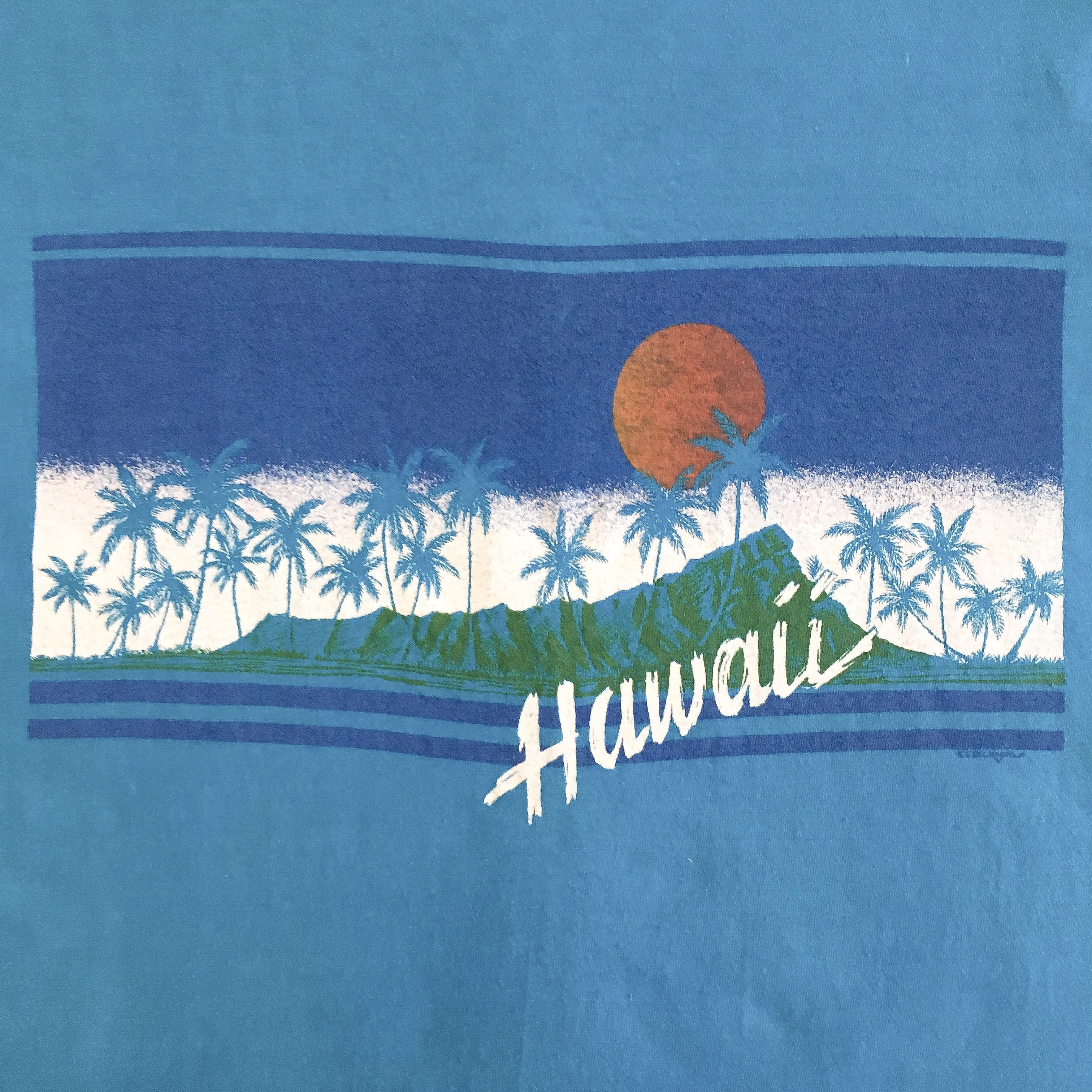 Hawaii old Print S/S Tee <Deadstock>