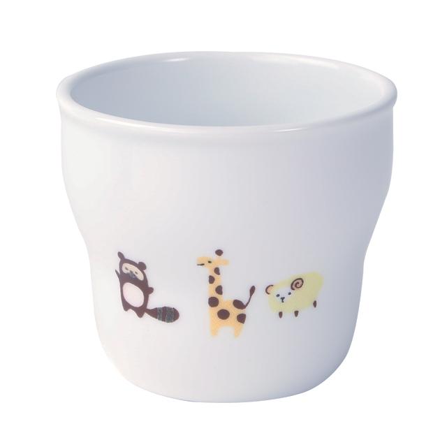 【2025-1350】強化磁器 持ちやすい幼児用カップ(Φ7.4cm×H6.6cm/満水170ml)  ホリデー
