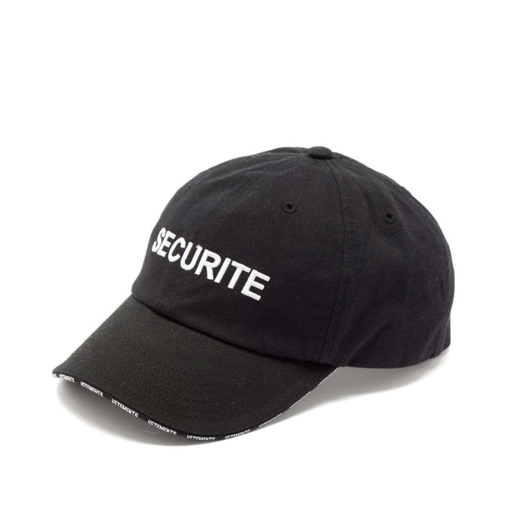 VETEMENTS SECURITE CAP キャップ / BLACK / 2019AW
