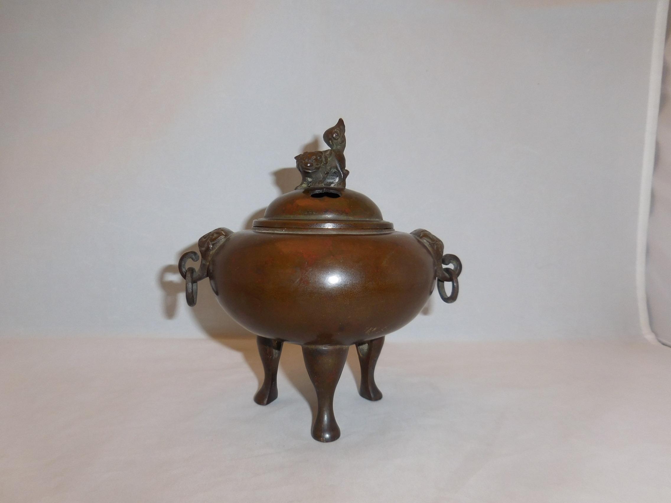 紫銅香炉 copper incense burner(No17)