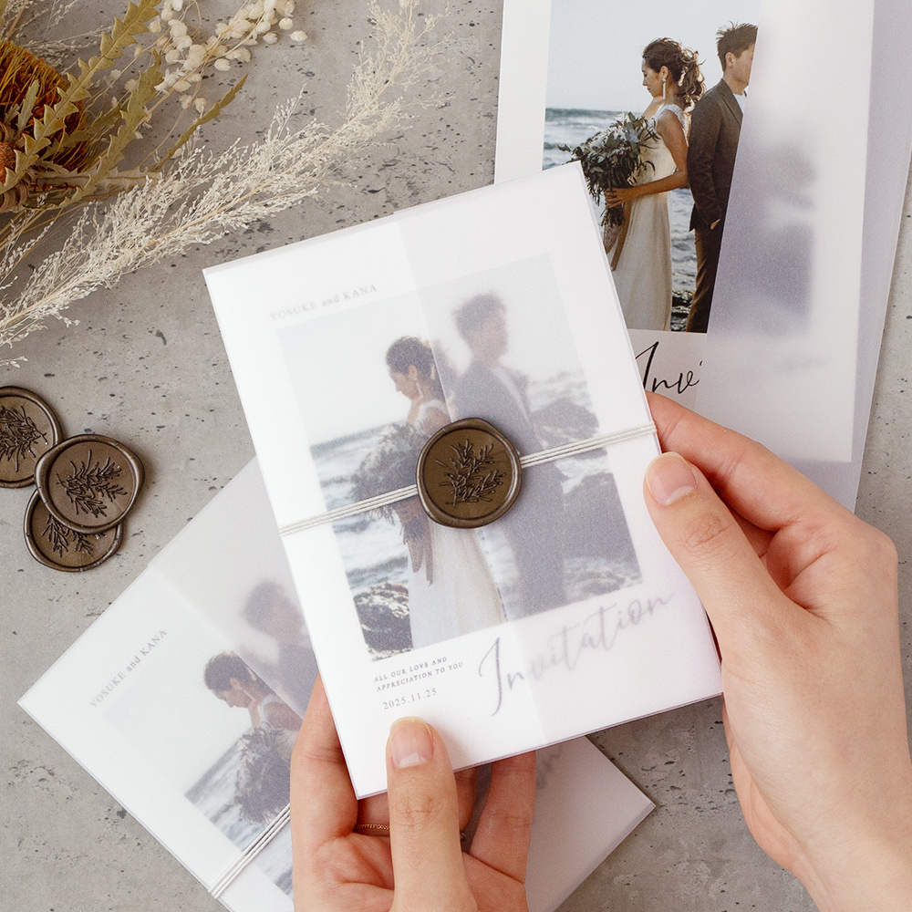 【手作りキット】ines photo招待状−封筒無し / 10枚セット(1セット150円)