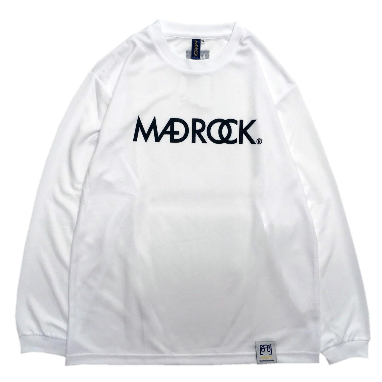 【再入荷】マッドロック / ロゴ ロンT / ドライタイプ / ホワイト&ブラック