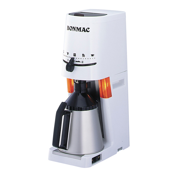 Bonmac BM-570N 業務用グラインダー ドリップ用電動コーヒーミル ホワイト ブラック