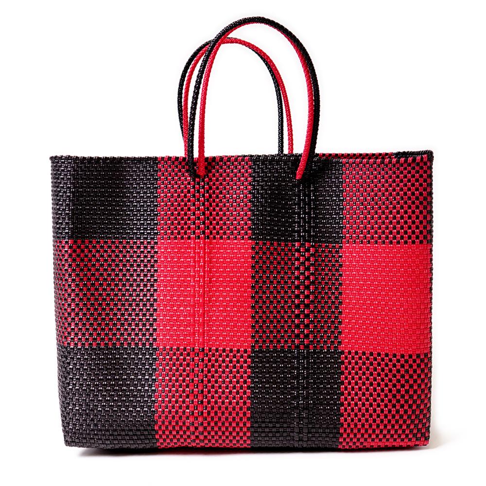 MERCADO BAG TABLERO- Red x Black(L)