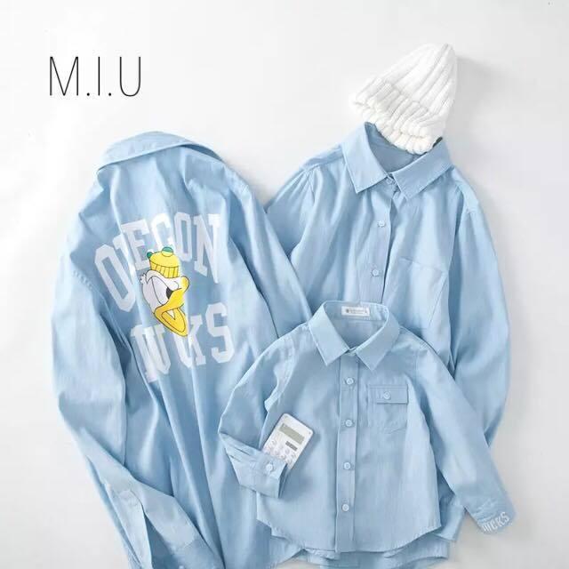 ファミリーコーデ デニムシャツ キッズ #MIU632