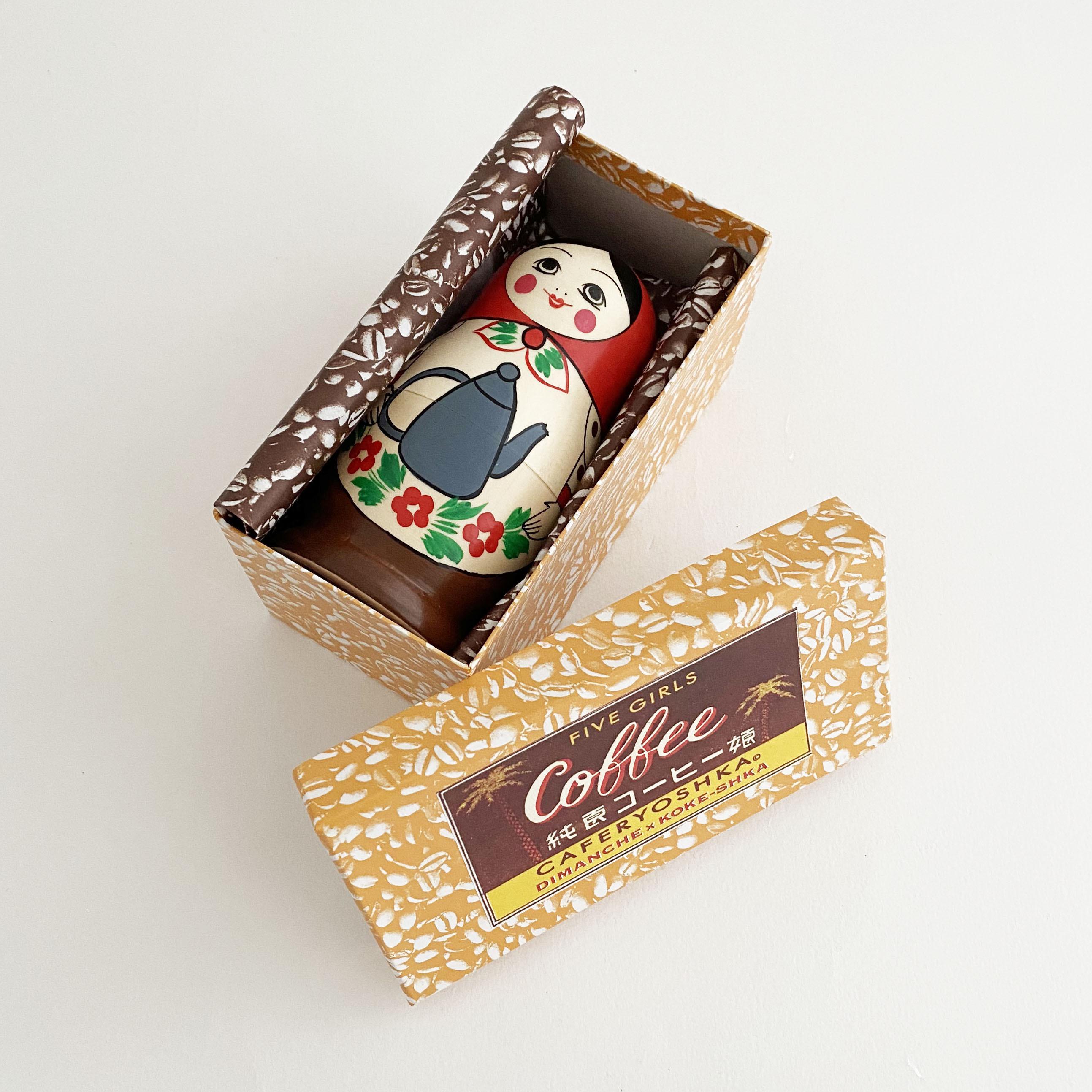 『コーヒー娘』マトリョーシカ(大/5個組)