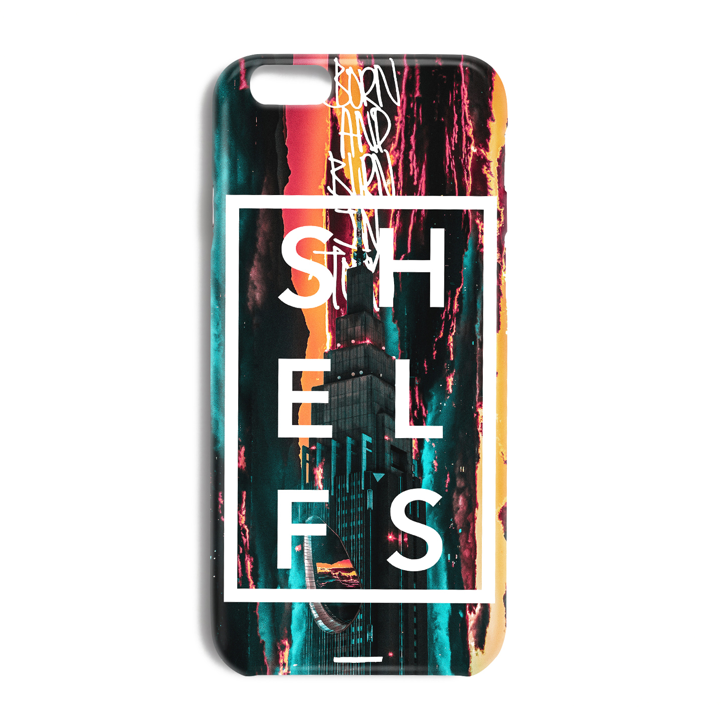 iphone case born and burn in tokyo shelfs online store