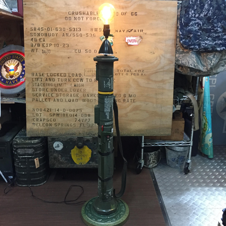 品番5085 バズーカー ランプ 創作 ライト スタンド 軍物 ミリタリーグッズ ヴィンテージ