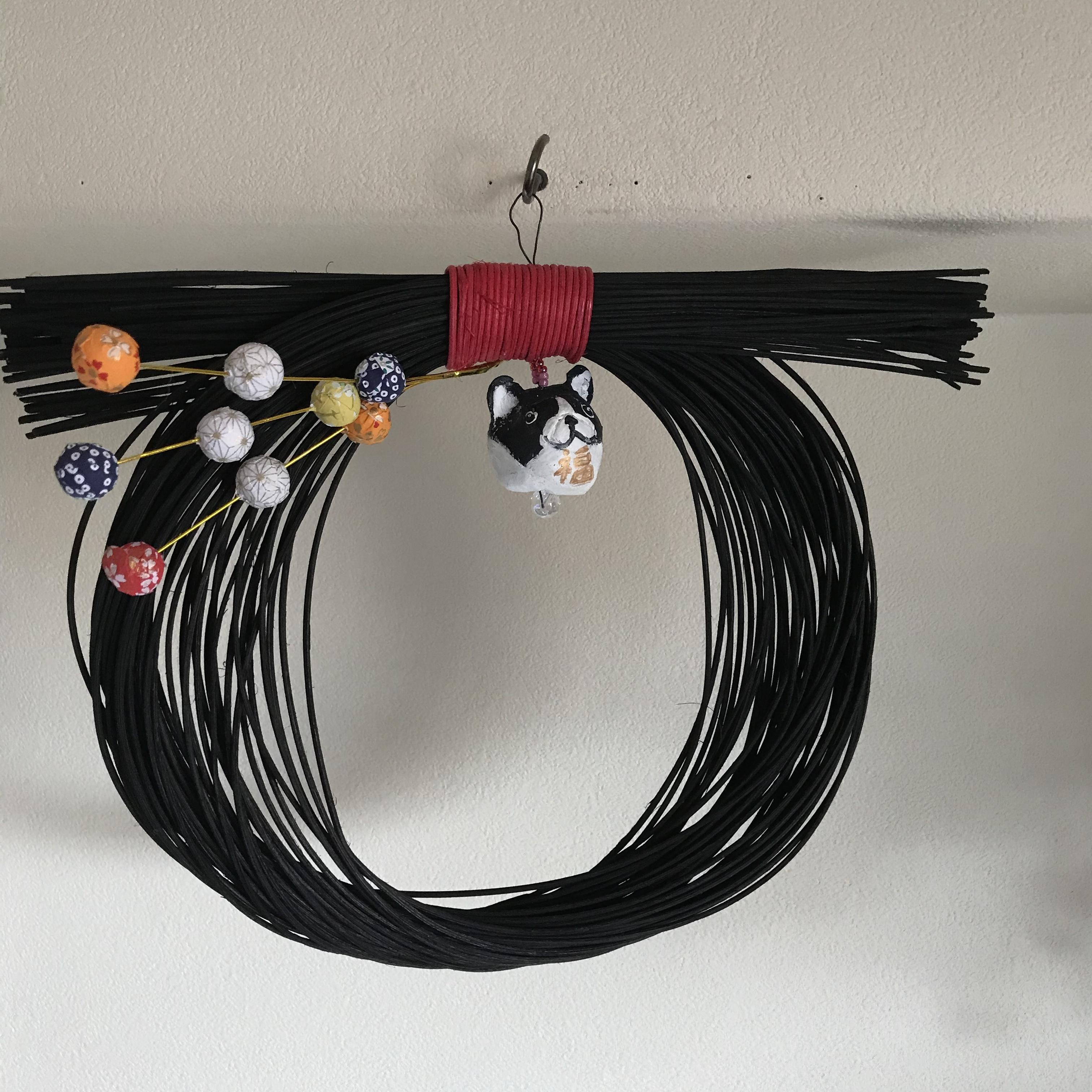 モダンBUHI正月飾り(黒)パイド