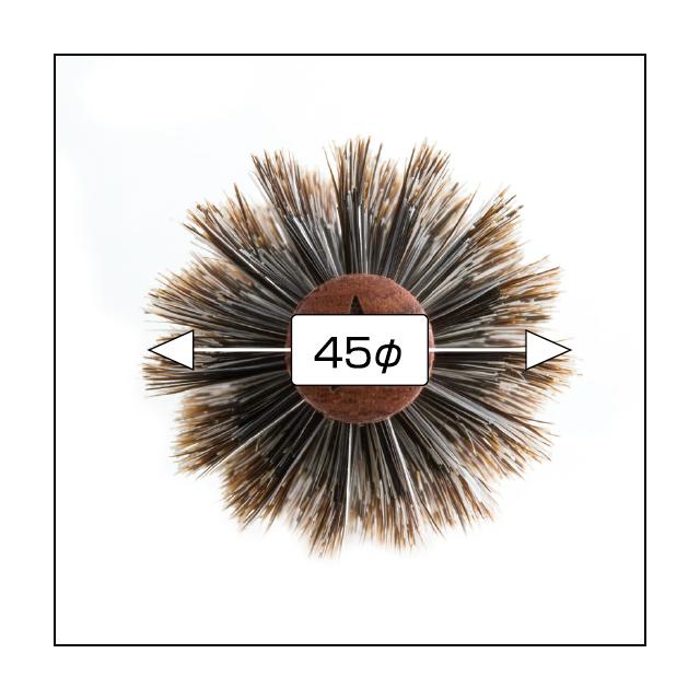 (NB-BSN45)N.B.A.A.ソフトロールブラシ 45 ナチュラルウッド