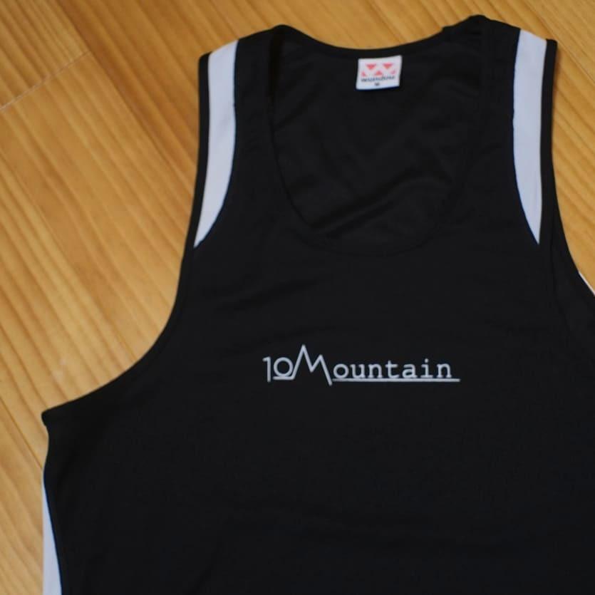 10Mountain シンプルロゴ ランニングシャツ