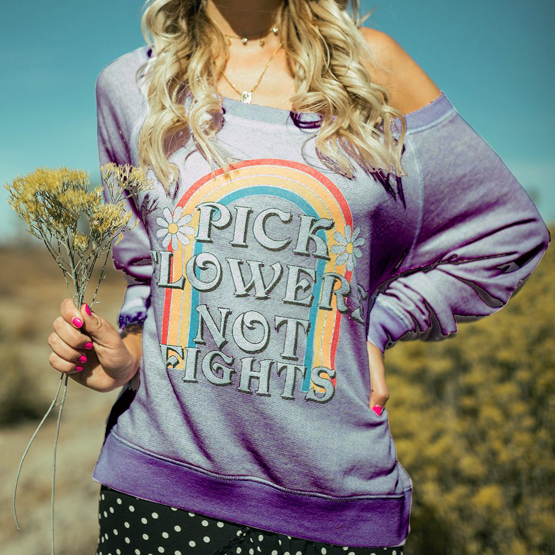 Pick Flowers Terry Pullover