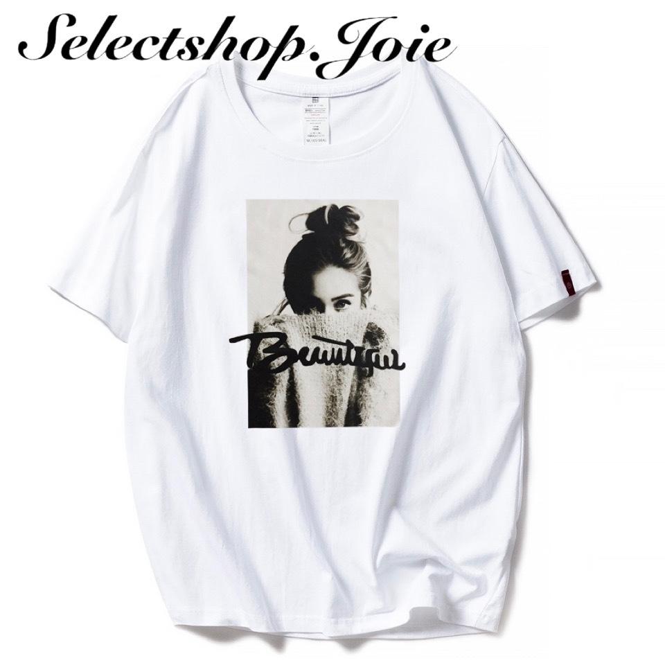 ガールグラフィック コットンTシャツ 2色展開