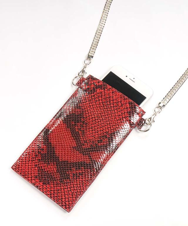 hs18SS-DAF2 LEATHER CHAIN CASE