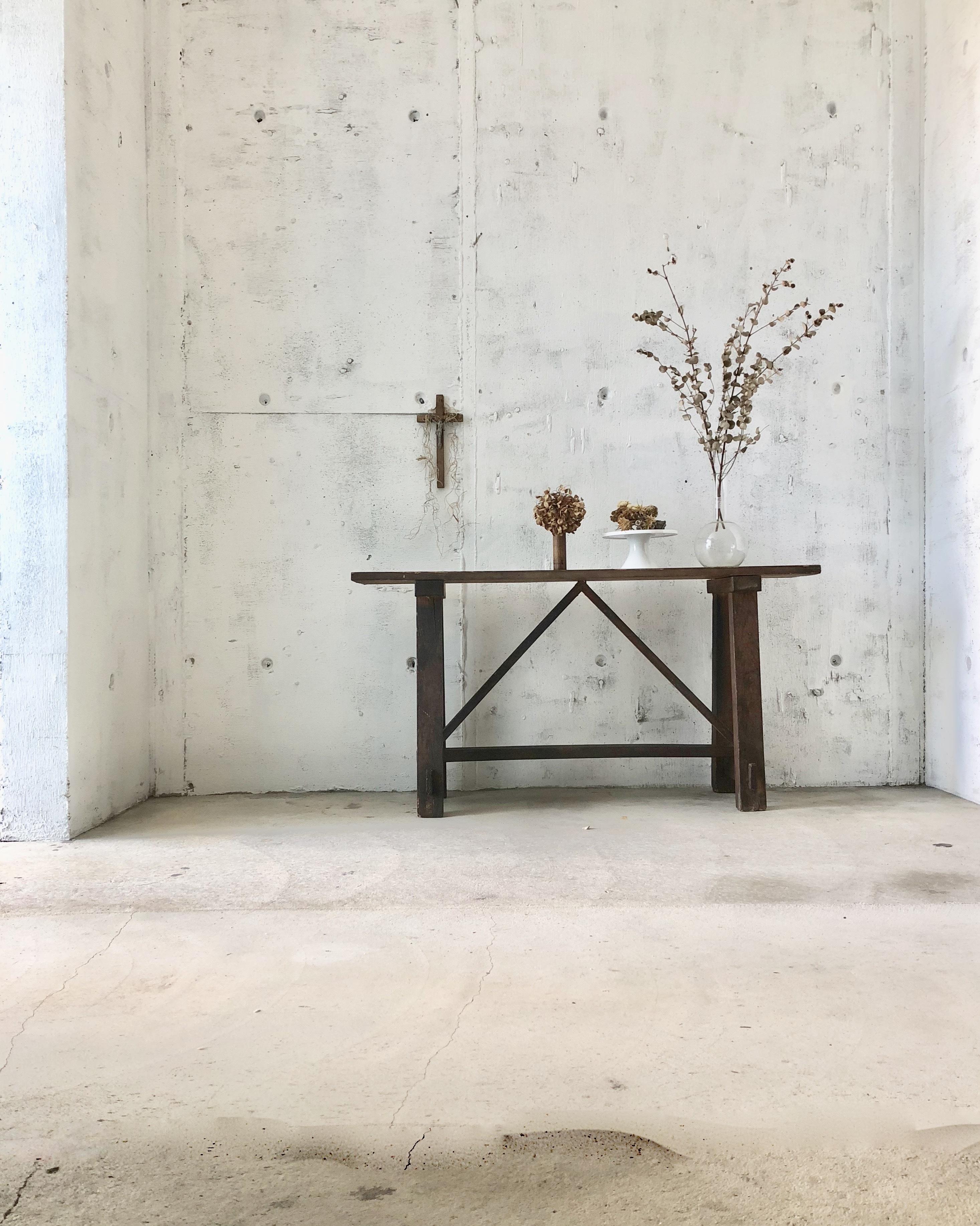 レトロな木製ベンチ[古家具]