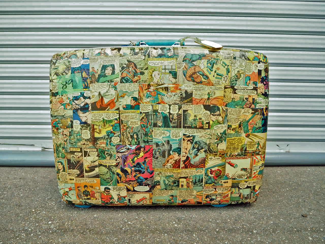 品番0899 スーツケース DC Comics アメコミ柄 Courier 鍵付  suitcase 011
