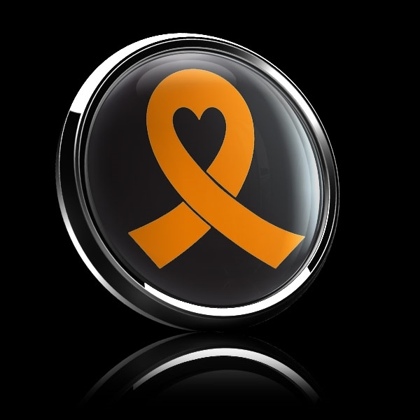 ゴーバッジ(ドーム)(CD0984 - ORANGE RIBBON BLACK (LEUKEMIA)) - 画像4