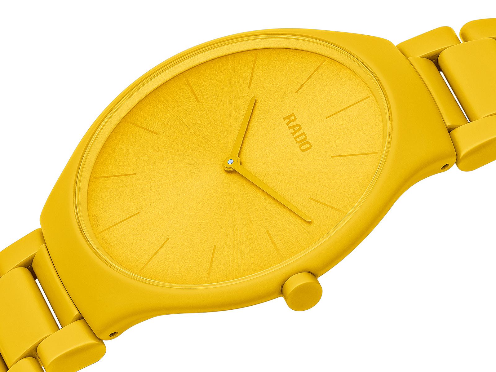 【RADO ラドー】True Thinline Les Couleurs™ Le Corbusier  Sunshine yellow 4320W シンライン ル・コルビュジエ(イエロー)/正規輸入品