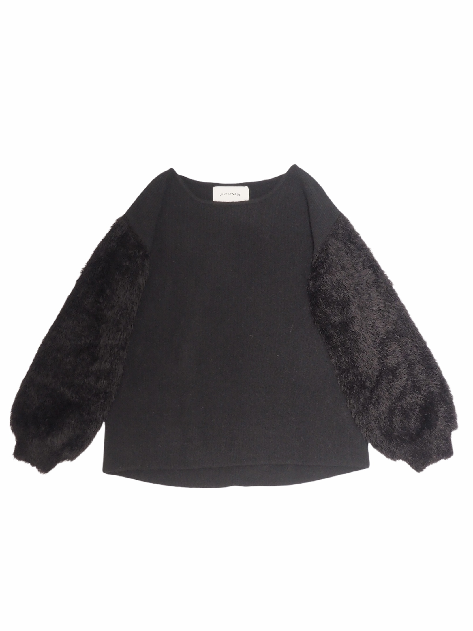 【LILLY LYNQUE】SLEEVE FUR KNIT