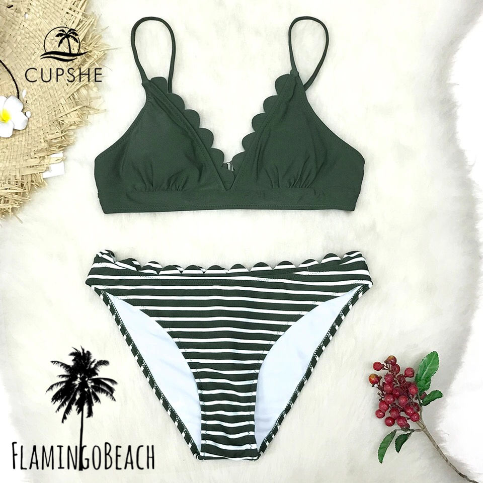 【FlamingoBeach】border marguerite bikini ビキニ